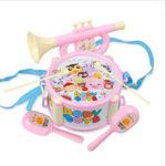 Оригинал              Детские двухсторонние песочные трубы Hammer Ручные барабаны Орфф Музыкальные инструменты Развивающие игрушки