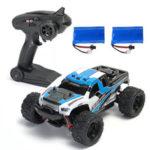 Оригинал              2 Аккумуляторы Версия HS 18301/18302 1/18 2.4G 4WD Big Foot RC Авто Внедорожник RTR Toys