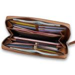 Оригинал              CarrKen 20×10.5×2.3cm Кожаный длинный кошелек для карт памяти для хранения монет Сумка Телефон Сумка