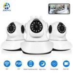 Оригинал              Jooan C6C HD 1080P WIFI IP камера 11 LED PT 360 ° Встроенный Антенна IP камера Двухсторонние аудиосистемы с детектором движения