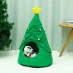 Оригинал              Рождественская елка Лось Pet Дом Дышащий Полузакрытый Soft Кот Дом Зеленый Кот Собака Кровать