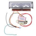 Оригинал              140 * 40 мм VFD модуль Дисплей Панель экрана Графическая решетка для HIFI Мощность Усилитель Флуоресцентный Дисплей с платой водителя VDF-7708-8