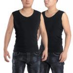 Оригинал              Теплые теплые синглетные мужские зимние черные термобелье нижнее белье жилет без рукавов