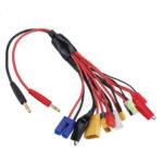 Оригинал              10 в 1 многофункциональный Батарея кабель зарядного устройства 4,0 мм банановый адаптер Коннектор штекер к T Tamiya XT30U XT60H XT90 EC5 JST Провод