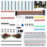 Оригинал              Компоненты электроники Базовые стартовые комплекты с 400 точками соединения Макетная Кабельный резистор Конденсатор Потенциометр LED