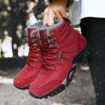 Оригинал              Женский Большой размер Нескользящий На открытом воздухе Warm Hiking Snow Ботинки