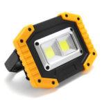 Оригинал              XANES®30W1000LM2COBUSB аккумуляторная Водонепроницаемы Мощный рабочий свет прожектора