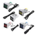 Оригинал              Mini Crystal Film Square LED Цифровой Термометр Сигнальная лампа AC 50-380В 220В Индикатор температуры Диапазон -20-200 ℃ с 1м Датчик
