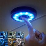 Оригинал              3-в-1 LED Авто Свет для чтения на крыше Магнит Потолок Лампа USB 320mAh аккумуляторная универсальная для салона автомобиля Домашний шкаф