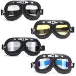 Оригинал              Ветрозащитные очки Ретро шлем мотоцикл Лыжный скутер ATV Flying Eyewear Очки