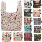 Оригинал              KCASA Flamingo Recycle Shopping Сумка Многоразовая сумка для покупок Eco Сумка Мультфильм Цветочные сумки на ремне, складные сумки Печать на кухне Хранени