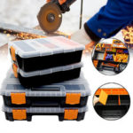 Оригинал              Пластмасса Carry Инструмент Хранение Коробка Чехол Болт Оборудование Дисплей Органайзер Контейнер