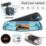 Оригинал              1080P HD Dual Объектив Авто Видеорегистратор Видеокамера Зеркальный рекордер с видом сзади камера
