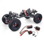 Оригинал              SCX10 1/10 4WD ЧПУ Цельнометаллический карбоновый каркас автомобиля RC + 540 Мотор + 60A Водонепроницаемы ESC + M1500 Сервопривод Версия с прямым мостом