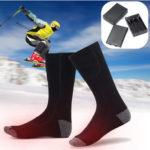Оригинал              1 Пара Хлопок Электрическое Отопление Хлопок Носки Грелки для Ног Тепловые Лыжи Верховая Езда С Подогревом Носки