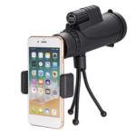 Оригинал              IPRee® 40×60 10-кратное покрытие FMC BAK4 Монокуляр Ultra HD Водонепроницаемы Телескоп для ночного видения при слабом освещении + телефонный зажим + Шта