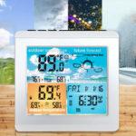 Оригинал              Метеостанция Bakeey Daily Часы Сигнал о низком заряде батареи Термометр Гигрометр На открытом воздухе Температура в помещении Влажность Датчик