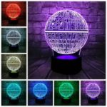Оригинал              3D LED Стол Лампа Звезда Смерти Colorful Шариковая Лампа Атмосфера Украшение Ночные Огни Новинки Игрушки для подарков