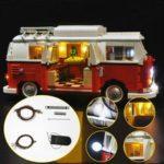 Оригинал              Обновлено Светодиодный Освещение Набор Для LEGO 10220 T1 Campingbus VW CAMPER VAN Кирпичи