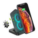 Оригинал              Desktop Type-C Беспроводное зарядное устройство Double Coils 10 Вт с охлаждающим вентилятором для смартфона с поддержкой Qi для iPhone 11 для Samsung Galaxy Note 10