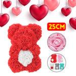 Оригинал              DIY Искусственный Цветок Розы Медведь 25 см Красивая Для Свадебное Украшения Подарка На День Рождения
