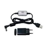 Оригинал              URUAV Модернизированный 2 в 1 Lipo Батарея Зарядный кабель блока питания с адаптером 5V Фильтр для Fatshark Skyzone EV200D EV300D FPV Защитные очки