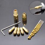 Оригинал              12шт 0.5-3мм маленький электрический Дрель бит цанговый патрон с микро поворотом Дрель и шестигранным ключом