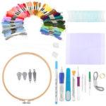 Оригинал              85PCS DIY Волшебный Вышивка для шитья иглы Инструмент Для вышивания Ручка с Чехол наборами DIY Craft Швейная Инструмент для вышивания
