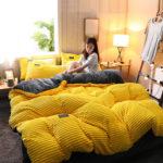 Оригинал              4шт AB встал на сторону сгущает вельвет бархатные зимние комплекты постельного белья полный королева королева пододеяльник