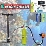 Оригинал              1л портативный мини кислородный баллон кислородный баллон с дыханием подводное кислородный баллон