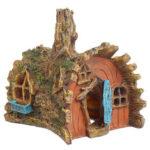 Оригинал              Смола Дом на дереве Аквариум Украшение дома Fish Tank Скрытие замка Cave Ornament