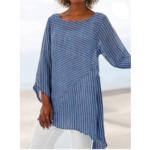Оригинал              Полосатая шовная нерегулярная нижняя блуза