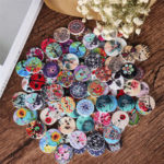 Оригинал              100 шт. Круглые деревянные Кнопки украшения швейные Кнопки DIY материалы