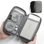 Оригинал              Boona 19см * 10,5см Однослойные цифровые аксессуары для хранения Сумка Travel Сумка Power Bank USB кабель зарядного устройства Органайзер Сумка
