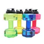 Оригинал              2.2L Унисекс Спорт Бутылки с Водой Герметичные Небьющиеся Пластиковые Бутылки Шейкер Yoga Фитнес Гантель Чайник