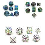Оригинал              7 шт. Многогранные кубики из сплава Набор ролевых игр Аксессуар для подземелий Драконы
