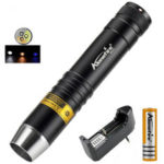 Оригинал              AloneFire SV370 XPG-2 200 люмен белый + желтый + 365 нм UV свет Водонепроницаемы LED фонарик 18650 фонарик