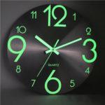 Оригинал              Световая Стена Часы Номер Кварц Висячие Часыs Светящиеся Декор Спальня