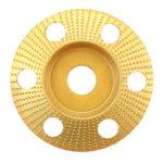 Оригинал              Drillpro 110 мм Карбид вольфрама Прозрачный диск для формовки дерева Конический резьбовой диск с отверстием 22 мм Шлифовальный станок для шлифов