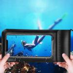 Оригинал              KUULAA IPX8 Водонепроницаемы Телефон Чехол Экран Сенсорный Подводный Плавание Дайвинг PU + ТПУ Телефон Сумка для iPhone Huawei Xiaomi