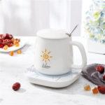 Оригинал              CHIGO Smart Gravity Датчик Электрический теплый коврик для чашки 55 градусов Теплоизоляционная основа для молока Чай Кофейный напиток Подставка дл
