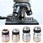 Оригинал              Металлическая Ахроматическая Цель 10X Объектив для Биологического Микроскопа