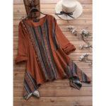 Оригинал              Винтажная вельветовая полосатая нерегулярная блузка