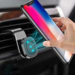 Оригинал              USLIONМагнитныйадсорбционныйвоздухоотводчикАвтоДержатель телефона Авто Крепление на 360º Вращение для 3.5-7.0 дюймов Смартфон для iPhone 11 д