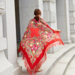 Оригинал              Шарф с принтом на 160 см, национальный шарф с бахромой