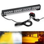 Оригинал              18Inch 16LED Аварийный советник Flash Строб световой индикатор Предупреждение Лампа белый + желтый цвет с переключателем