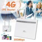 Оригинал              4G LTE CPE Маршрутизатор WiFi Беспроводная точка доступа повторителя Сим-карты Модем Dual Антенна Авто
