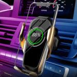 Оригинал              Беспроводная Инфракрасная Интеллектуальная Автоматическая Индукция Авто Телефон Зарядное Устройство Air Vent Держатель Крепление Для iPhone С