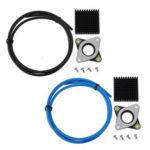Оригинал              Nema17 Stepper Мотор Амортизатор амортизаторов + черный / синий / красный / желтый PTEF Трубка + черный радиатор для 3D-принтера