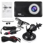Оригинал              4 дюймов HD 1080P Dual Объектив Авто Видеорегистратор Передняя и задняя камера Видеорегистратор видеорегистратора
